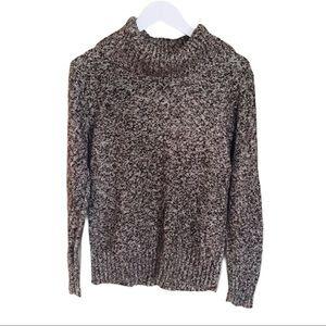 GEORGE Chunky High Neck Knit Turtleneck Sweater Mocha Brown Size Size Medium